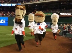 April 23 Boxing Gloves Presidents Race Nationals Park Teddy Man in the Arena
