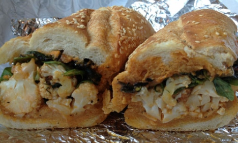 G by Mike Isabella at Nationals Park Stadium - Roasted Cauliflower Sandwich/Sub - Photo by Caroline Jones Washington City Paper