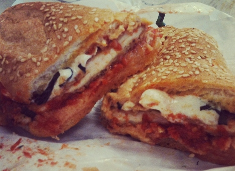 Nationals Park G Sandwich Chicken Parm by Mike Isabella - Photo by  MAURA JUDKIS Washington Post