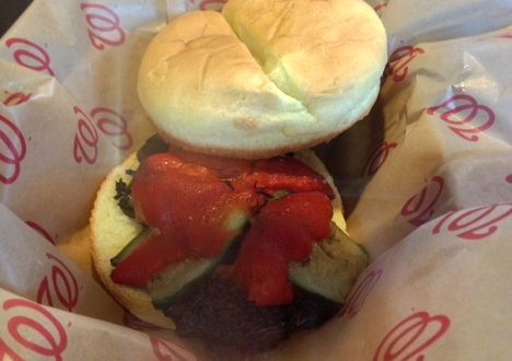 Grilled Portobello Sandwich - Washington Nationals Park Stadium - Field of Greens - Vegan Food Stand