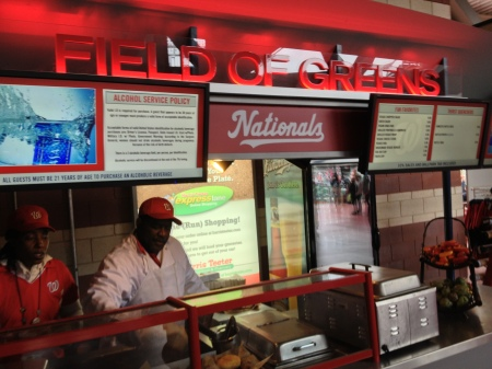 Field of Greens - Vegan Food - Washington Nationals Park - Vegetarian Option
