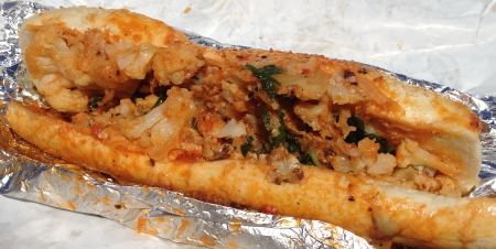 Mike Isabella's G Roasted Cauliflower Sandwich Nationals Park