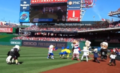 Screechs Birthday - Mascots visiting Nationals Park racing presidents