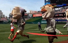 Nationals Racing Presidents photo finish - George Washington edges Teddy Roosevelt