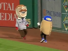 Teddy Roosevelt Potato Pete Racing Pierogies selfie