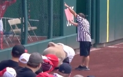 Washington Nationals Presidents Race World Cup USA Red Card