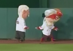 Blindfold presidents race