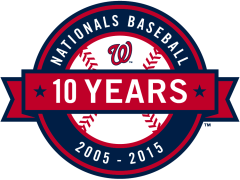 Washington Nationals 10 year anniversary logo 2015
