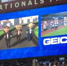 "Video: Nats Racing Presidents relive the first-ever presidents race to kick off ""Ten Year Tuesdays"" celebration"