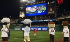 10 year Tuesday Nationals Throwback presidents race