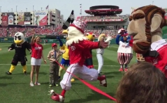 Screech wins Nationals Presidents Race birthday