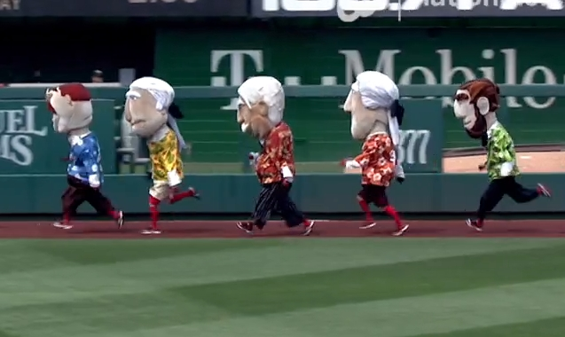 0490853ff Racing presidents in Hawaiian Shirts Abe wins ...