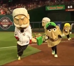 Taft enlists Pittsburgh Pierogies to win Presidents Race