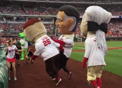 Calvin Coolidge cheats shoves first Nationals presidents race