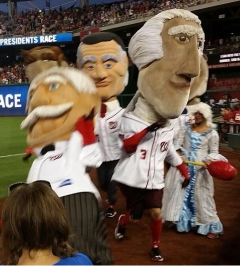 Martha Washington knocks out Nats Racing Presidents Race