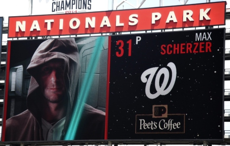 Nationals Park Star Wars Day Max Scherzer