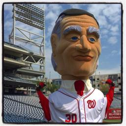 "Racing presidents Herbert Hoover and Calvin Coolidge ""retiring"" to Nats new spring training ballpark."
