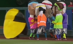 Pac Man racing presidents 80s night