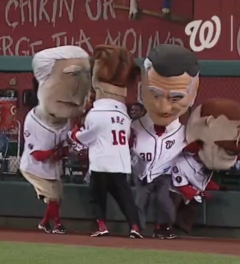 Abe Lincoln Racing Presidents Yogi Berra