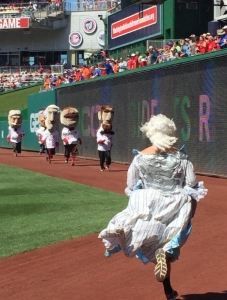 Martha Washington attacked Nats racing presidents
