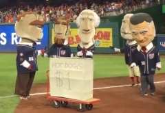 Teddy Roosevelt Dollar Hot Dog Stand Racing Presidents