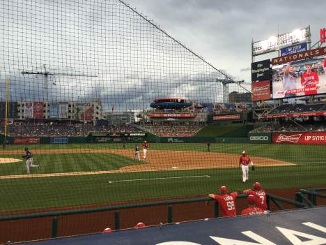 New netting at Washington Nationals Park baseball stadium