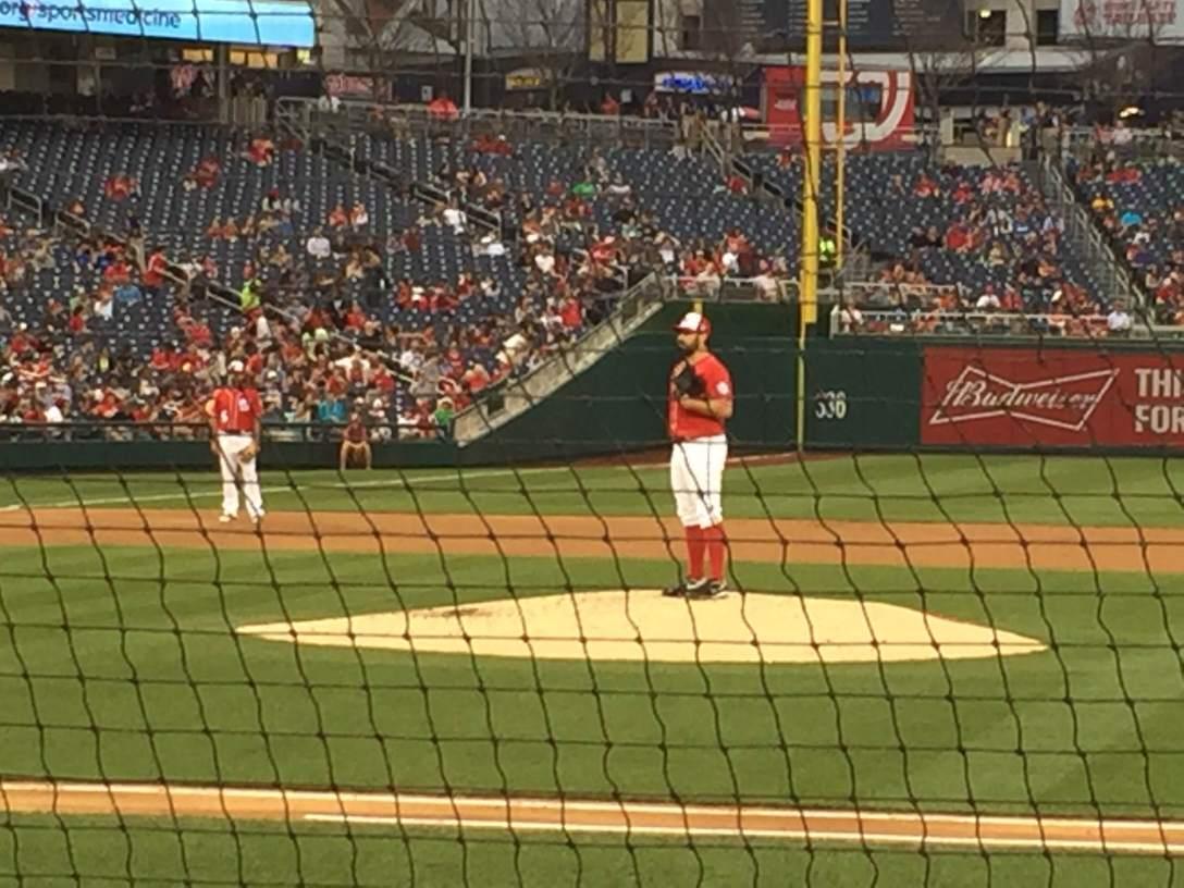 New netting at Washington Nationals Park baseball stadium
