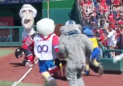 Mascots attack Jefferson