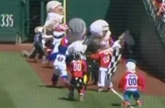 Screech wins Nationals Presidents Race birthday carnage