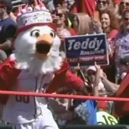 Video: Racing presidents match team's 16-inning insanity with 20-mascot melee and a presidents race first