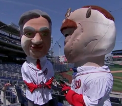 Washington Nationals New Racing President Herbert Hoover with Teddy Roosevelt