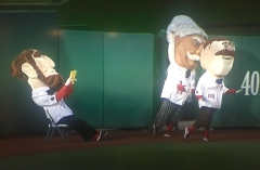 Abe Lincoln Washington Nationals presidents race sitting reading