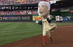 George Washington Nationals Racing Presidents race win
