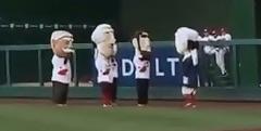 George Washington Nationals Racing Presidents salute