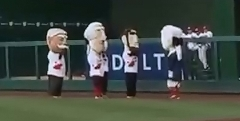 George Washington Nationals Racing Presidents salute