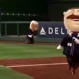 Video: Nats racing presidents faint in the heat, Teddy Roosevelt perseveres