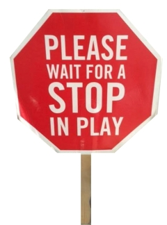 Nationals Park Usher Policy Stop Sign In Play