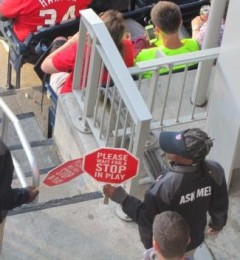Nationals Park Usher Signs Stoppage