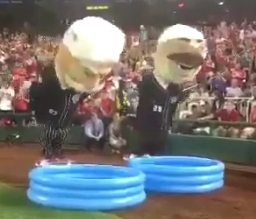 Nats racing presidents try Olympic-style synchronized diving, and it's not pretty