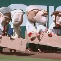 Racing presidents resume Olympic tributes with team rowing, Flintstones-style