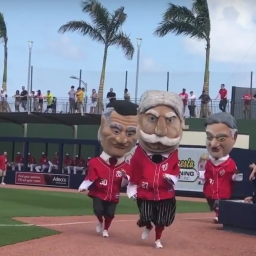 Video: Taft wins Nationals first Spring Training presidents race to christen Ballpark of the Palm Beaches
