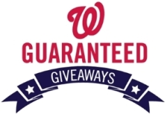 Washington Nationals Guaranteed Giveaways Promotion Items