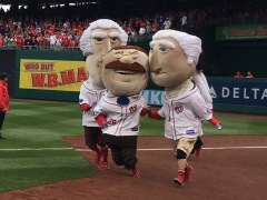 Teddy Roosevelt tripped Nationals Presidents Race