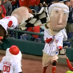 Racing presidents scramble on National Scavenger Hunt Day