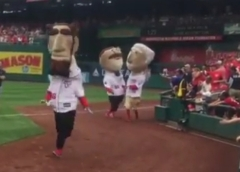 Teddy Roosevelt doesn't even try Nationals presidents race