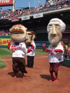 Washington Nationals racing presidents vogue on Madonna's birthday