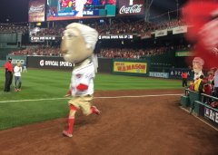 George Washington Nationals Racing President Playoffs NLDS Game 5
