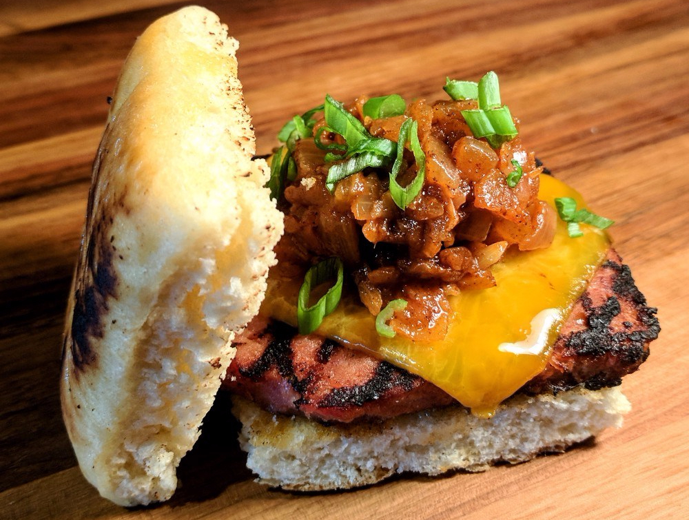 Nationals Park Half Smoke Burger Biscuit Virginia Country Kitchen