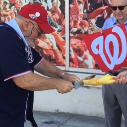 Video: Fans sacrifice rubber chicken outside Nationals Park in advance of pivotal NLDS playoff game 4