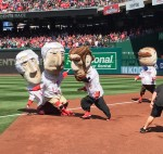 Nationals Presidents Race Opening Day Abe Cheats Teddy Wins